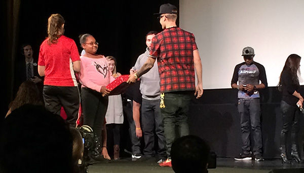 Justin Bieber appears at a screening of his new movie &#39;Believe&#39; on Dec. 16, 2013. He handed out toys to several Beliebers at the event, sponsored by Radio Disney, as part of the Spark of Love intiative of KABC Television and the Southern California Firefighters. <span class=meta>(OTRCOTRC)</span>
