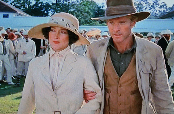 Pictured: Meryl Streep and Robert Redford appear in the 1985 film 'Out of Africa.'