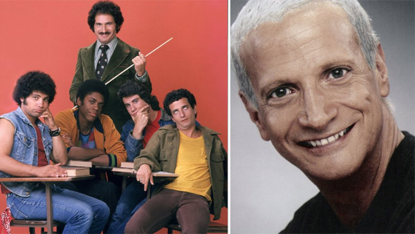 Ron Palillo (right), Robert Hegyes, Lawrence Hilton-Jacobs, Gabe Kaplan and John Travolta appear in a promotional photo for 'Welcome Back, Kotter,' which ran between 1975 and 1979. / Ron Palillo appears in a 2009 publicity photo.