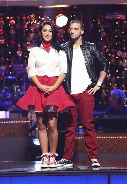 "<div class=""meta ""><span class=""caption-text "">Reality star Bristol Palin and her partner Mark Ballas await their fate on 'Dancing With The Stars: The Results Show' on October 16, 2012. The pair received 32 out of 40 points from the judges for their Rock and Roll on 'Dancing With The Stars: All-Stars,' which aired on October 15, 2012.  (ABC Photo)</span></div>"