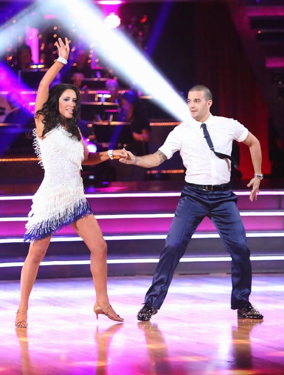 "<div class=""meta ""><span class=""caption-text "">Reality star Bristol Palin and her partner Mark Ballas received 19.5 out of 30 points from the judges for their Cha Cha Cha on the season premiere of 'Dancing With The Stars: All-Stars,' which aired on September 24, 2012.  (ABC Photo/ Adam Taylor)</span></div>"