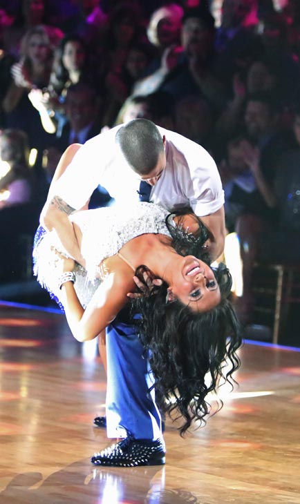 Bristol Palin and Mark Ballas appear in a still from 'Dancing With The Stars: All-Stars' on September 24, 2012.