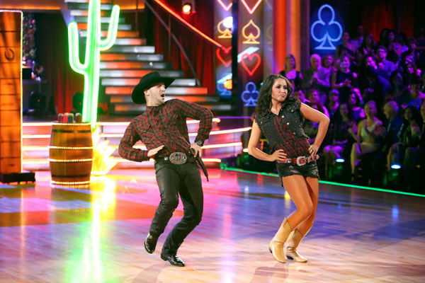 Reality star Bristol Palin and her partner Mark Ballas received 18 out of 30 points from the judges for their Quickstep on week two of &#39;Dancing With The Stars: All-Stars,&#39; which aired on Oct. 1, 2012. <span class=meta>(ABC &#47; Adam Taylor)</span>