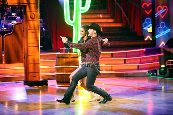 "<div class=""meta image-caption""><div class=""origin-logo origin-image ""><span></span></div><span class=""caption-text"">Reality star Bristol Palin and her partner Mark Ballas received 18 out of 30 points from the judges for their Quickstep on week two of 'Dancing With The Stars: All-Stars,' which aired on Oct. 1, 2012. (ABC / Adam Taylor)</span></div>"