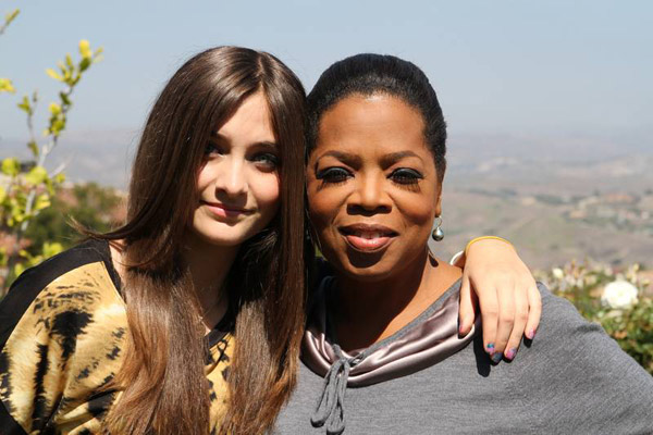 Paris Jackson (left), poses with Oprah Winfrey. Jackson is featured on a June 10 episode of the OWN series 'Oprah's Next Chapter.'
