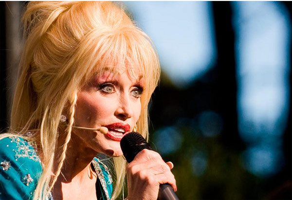 Dolly Parton performs at the Hardly Strictly Bluegrass Festival in San Francisco, California on Oct. 2, 2005.
