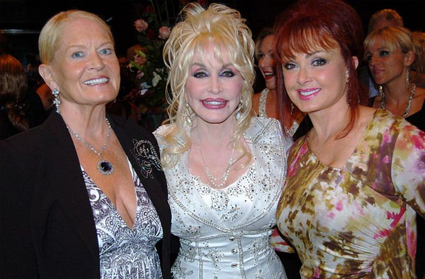 From left: Lynn Anderson, Dolly Parton and Naomi Judd appear at the world premiere of the national tour of '9 to 5: The Musical' at the Tennessee Performing Arts Center in Nashville on Sept. 21, 2010.