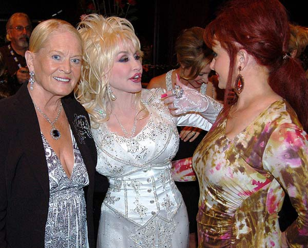 From left: Lynn Anderson, Dolly Parton and Naomi...