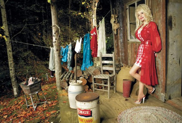 Dolly Parton appears in a publicity photo...