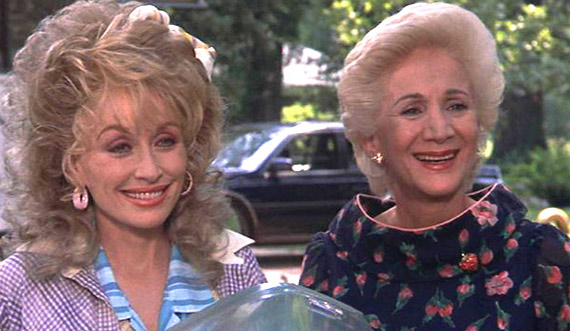 Dolly Parton and Olympia Dukakis appear in a scene from the 1989 movie 'Steel Magnolias.'