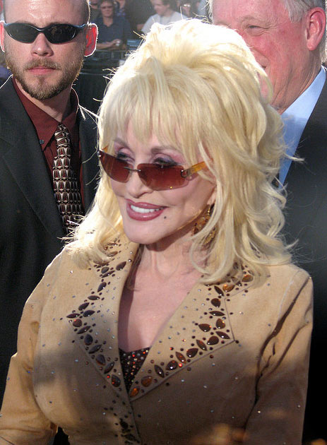 Dolly Parton was inducted into the Music City Walk of Fame in Nashville, Tennessee on Nov. 8, 2009 (pictured), along with Charlie Daniels and Kid Rock.