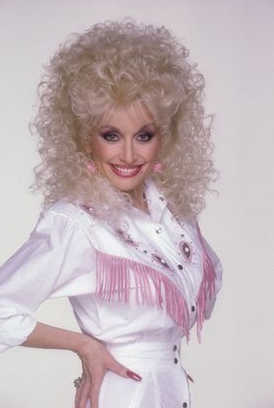 Dolly Parton appears in this 1987 publicity photo.