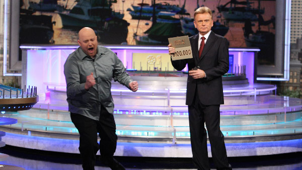 Pat Sajak appears in a photo from the television show 'Wheel of Fortune.'