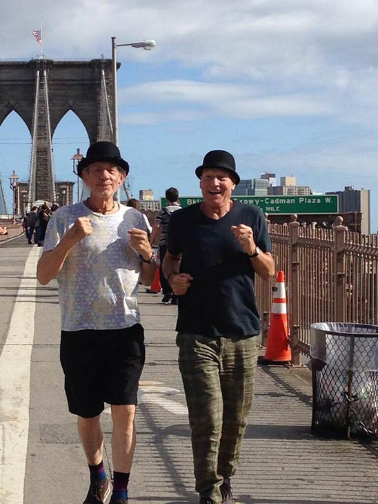 Patrick Stewart shared this Twitter photo of himself and friend and &#39;X-Men&#39; co-star Ian McKellen on Oct. 9, 2013, saying: &#39;Jogging! #gogodididonyc @TwoPlaysInRep&#39; -- referring to the Broadway plays &#39;Harold Pinter&#39;s No Man&#39;s Land&#39; and Samuel Beckett&#39;s &#39;Waiting for Godot&#39; that feature the two actors. <span class=meta>(pic.twitter.com&#47;uZgQeRx2VK &#47; twitter.com&#47;SirPatStew&#47;status&#47;387979783399043072&#47;photo&#47;1)</span>