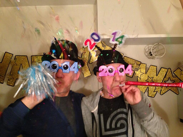 Patrick Stewart shared this New Year&#39;s Eve 2014-themed picture of himself with Ian McKellen on Dec. 31, 2013. He wrote: &#39;Auld Lang Syne #gogodididonyc @TwoPlaysInRep&#39; -- referring to the Broadway plays &#39;Harold Pinter&#39;s No Man&#39;s Land&#39; and Samuel Beckett&#39;s &#39;Waiting for Godot&#39; that feature the two actors. <span class=meta>(pic.twitter.com&#47;RkJmTB50my &#47; twitter.com&#47;SirPatStew&#47;status&#47;418063614944481280&#47;photo&#47;1)</span>
