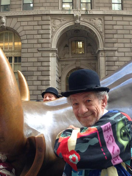 Patrick Stewart shared this Twitter photo of himself and friend and &#39;X-Men&#39; co-star Ian McKellen on Nov. 13, 2013, saying: &#39;Bull! #gogodididonyc @TwoPlaysInRep&#39; -- referring to the Broadway plays &#39;Harold Pinter&#39;s No Man&#39;s Land&#39; and Samuel Beckett&#39;s &#39;Waiting for Godot&#39; that feature the two actors. <span class=meta>(pic.twitter.com&#47;rkVwsjMCRF &#47; twitter.com&#47;SirPatStew&#47;status&#47;400684079416635393&#47;photo&#47;1)</span>