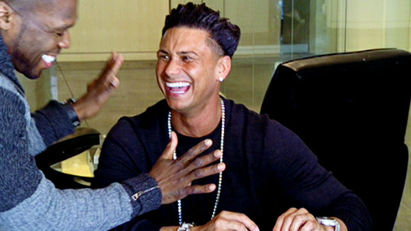 DJ Pauly D appears in a photo from his 2012 show 'Pauly D Project' with 50 Cent.