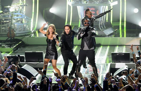 "<div class=""meta ""><span class=""caption-text "">The Black Eyed Peas perform at the MTV World Stage in New York City on April 18, 2011 to celebrate the arrival of the 21st Century Beetle. (Scott Gries / PictureGroup)</span></div>"