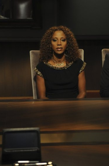 Holly Robinson Peete &#40;&#39;21 Jumps Street,&#39; &#39;The Celebrity Apprentice&#39;&#41; Tweeted this after Michael Clarke Duncan&#39;s Sept. 3, 2012 death: &#39;Devastated... #RIPMCD.&#39;  &#40;Pictured: Holly Robinson Peete appears in a scene from the NBC reality show &#39;The Celebrity Apprentice&#39; in 2010. Clarke&#39;s fiance, Omarosa Manigault, appeared twice on &#39;The Apprentice&#39; - including once on a celebrity-packed season.&#41; <span class=meta>(Gucci)</span>