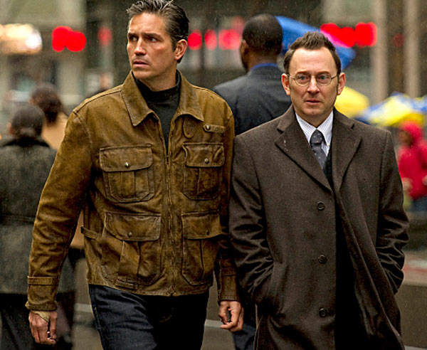 Still image of James Caviezel and Michael Emerson from the show 'Person of Interest.'