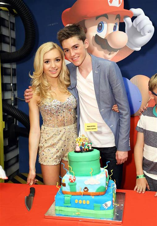 Peyton List, who stars on the Disney Channel series &#39;Jessie,&#39; and her twin brother Spencer List celebrate their 16th birthday at a Nintendo-themed party in Skateland in Northridge, California on March 30, 2014. <span class=meta>(Sara Jaye Weiss &#47; Startraksphoto.com)</span>