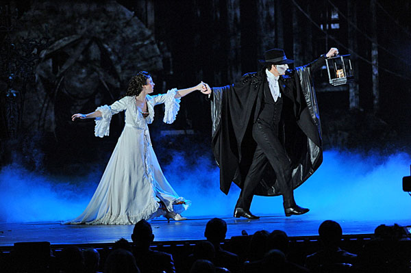 "<div class=""meta ""><span class=""caption-text "">The cast of the 'Phantom of the Opera' perform  The cast of the classic musical 'Phantom of the Opera' perform during the 2013 Tony Awards at Radio City Music Hall in New York City, Sunday, June 9.  (CBS / Heather Wines)</span></div>"