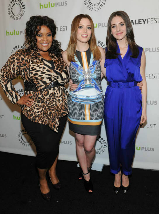 Yvette Nicole Brown, Gillian Jacobs and Alison Brie attend the Paley Center for Media&#39;s PaleyFest event honoring &#39;Community,&#39; courtesy of Samsung Galaxy, at the Saban Theatre, in Los Angeles on Tuesday March 5, 2013. <span class=meta>(Photo&#47;Kevin Parry for Paley Center for Media)</span>