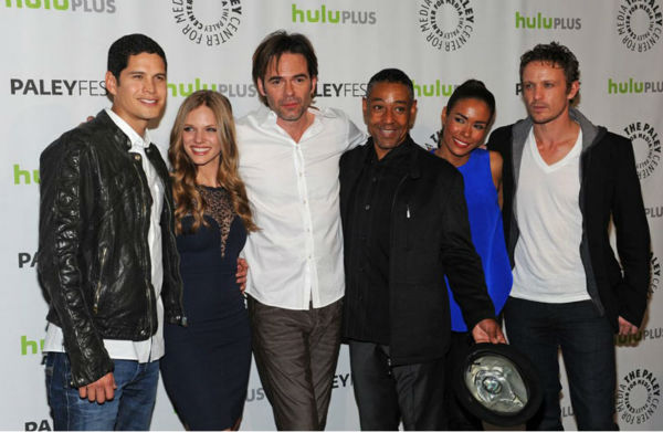 "<div class=""meta ""><span class=""caption-text "">Hats off to the cast of 'Revolution,' an NBC series honored at the Paley Center for Media's PaleyFest event, courtesy of Samsung Galaxy, on March 2, 2013 at the Saban Theatre in Los Angeles. (Kevin Parry for Paley Center for Media)</span></div>"