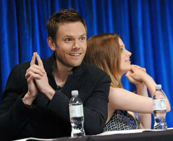 Joel McHale and Gillian Jacobs pose as &#39;Charlie&#39;s Angels&#39; at the Paley Center for Media&#39;s PaleyFest event honoring &#39;Community,&#39; courtesy of Samsung Galaxy, at the Saban Theatre, in Los Angeles on Tuesday March 5, 2013. <span class=meta>(Photo&#47;Kevin Parry for Paley Center for Media)</span>