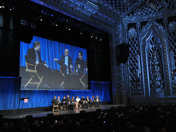 The cast and creators of &#39;Revolution&#39; discuss the NBC series at the Saban Theatre, which hosted the Paley Center for Media&#39;s PaleyFest event, courtesy of Samsung Galaxy, on March 2, 2013. <span class=meta>(Kevin Parry for Paley Center for Media)</span>