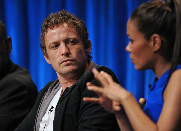 Actor David Lyons listens to &#39;Revolution&#39; co-star Daniella Alonso explain her craft at the Paley Center for Media&#39;s PaleyFest event, courtesy of Samsung Galaxy, at the Saban Theatre in Los Angeles on March 2, 2013. <span class=meta>(Kevin Parry for Paley Center for Media)</span>