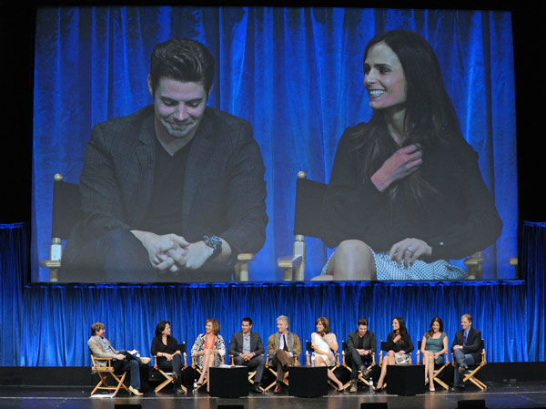 Josh Henderson &#40;L&#41; and Jordana Brewster &#40;R&#41; onstage at the Paley Center for Media&#39;s PaleyFest event honoring &#39;Dallas,&#39; courtesy of Samsung Galaxy, at the Saban Theatre in Los Angeles on March 10, 2013. <span class=meta>(Photo&#47;Kevin Parry for Paley Center for Media)</span>