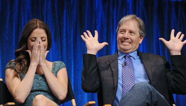 Julie Gonzalo &#40;L&#41; and Michael Robin &#40;R&#41; onstage at the Paley Center for Media&#39;s PaleyFest event honoring &#39;Dallas,&#39; courtesy of Samsung Galaxy, at the Saban Theatre in Los Angeles on March 10, 2013. <span class=meta>(Photo&#47;Kevin Parry for Paley Center for Media)</span>