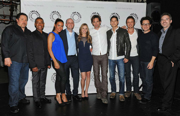 "<div class=""meta image-caption""><div class=""origin-logo origin-image ""><span></span></div><span class=""caption-text"">The cast and creators of the NBC series 'Revolution' pose at the Paley Center for Media's PaleyFest event, courtesy of Samsung Galaxy, at the Saban Theatre in Los Angeles on March 2, 2013. (Kevin Parry for Paley Center for Media)</span></div>"