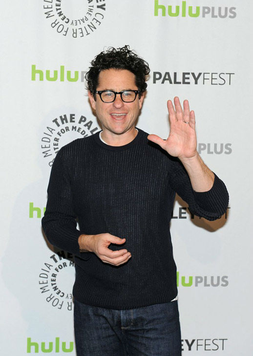 "<div class=""meta ""><span class=""caption-text "">J.J. Abrams, executive producer of the NBC series 'Revolution,' courtesy of Samsung Galaxy, gives a wave at the Paley Center for Media's PaleyFest panel event, courtesy of Samsung Galaxy, on March 2, 2013. (Kevin Parry for Paley Center for Media)</span></div>"