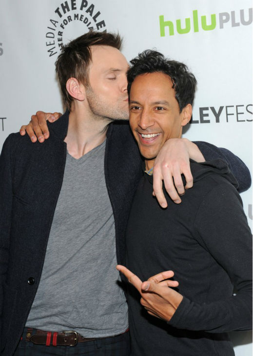 Joel McHale and Danny Pudi attend the Paley Center for Media&#39;s PaleyFest event honoring &#39;Community,&#39; courtesy of Samsung Galaxy, at the Saban Theatre, in Los Angeles on Tuesday March 5, 2013. <span class=meta>(Photo&#47;Kevin Parry for Paley Center for Media)</span>