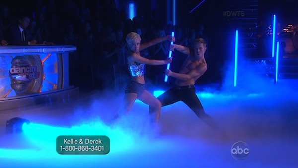 Singer and former &#39;American Idol&#39; contestant Kellie Pickler and her partner Derek Hough received 26 out of 30 points from the judges for their Jazz routine on week 2 of &#39;Dancing With The Stars,&#39; which aired on March 25, 2013. They received a total of 47 out of 60 points for the past two weeks of performances.  <span class=meta>(ABC Photo &#47; Adam Taylor)</span>