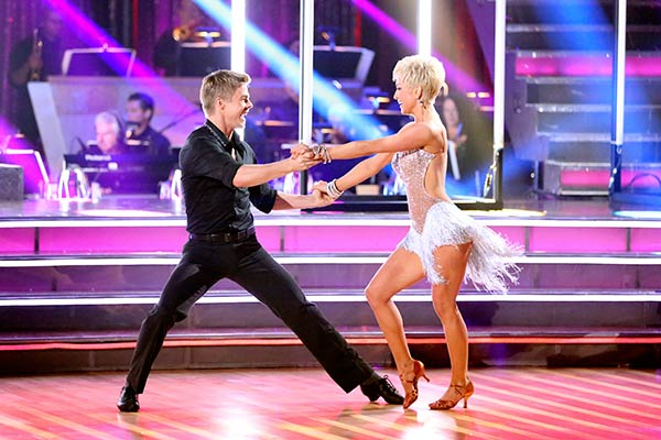 "<div class=""meta ""><span class=""caption-text "">Singer and former 'American Idol' contestant Kellie Pickler and her partner Derek Hough received 21 out of 30 points from the judges for their Cha Cha Cha routine on the season premiere of 'Dancing With The Stars,' which aired on March 18, 2013. (ABC Photo / Adam Taylor)</span></div>"