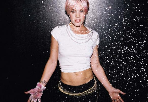 Pink in a promotional still on her personal web...