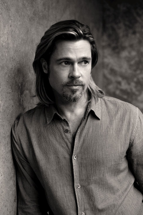 Brad Pitt appears in a behind-the-scenes photo for Chanel No. 5's 2012 ad ca