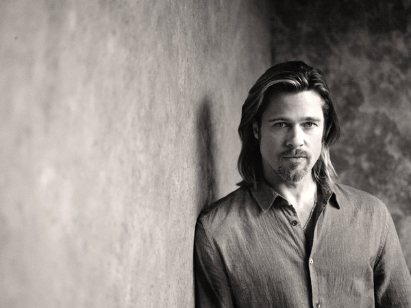 "<div class=""meta ""><span class=""caption-text "">Brad Pitt appears in a behind-the-scenes photo for Chanel No. 5's 2012 ad campaign. (Sam Taylor-Wood / Chanel)</span></div>"