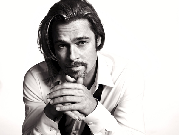 "<div class=""meta ""><span class=""caption-text "">Brad Pitt appears in an official photo for Chanel No. 5's 2012 ad campaign. (Mario Sorrenti / Chanel)</span></div>"