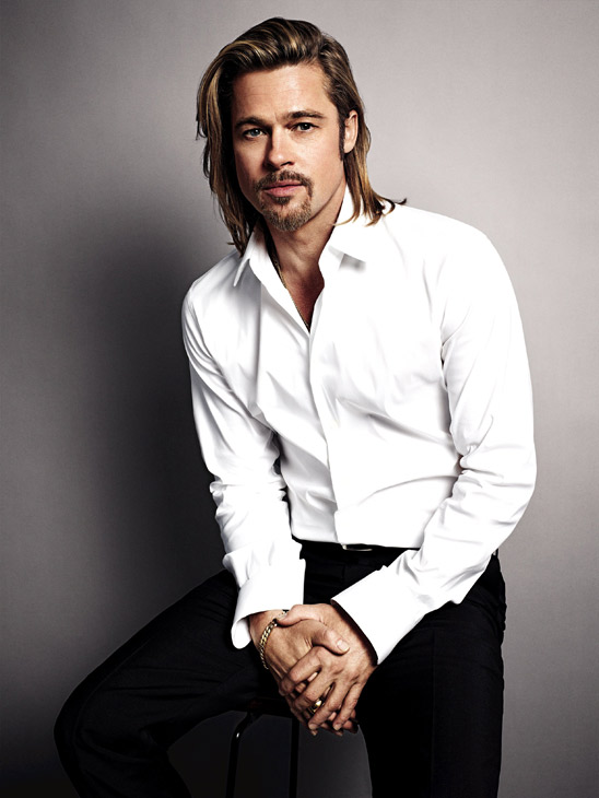 Brad Pitt appears in an official photo for Chanel No. 5's 2012 ad