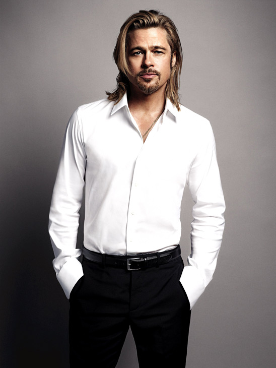 Brad Pitt appears in an official photo for Chanel No. 5&#39;s 2012 ad campaign. <span class=meta>(Mario Sorrenti &#47; Chanel)</span>