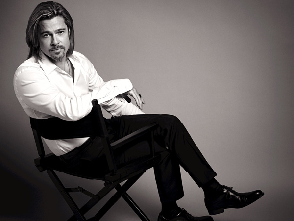 Brad Pitt appears in an official photo for Chanel No. 5's