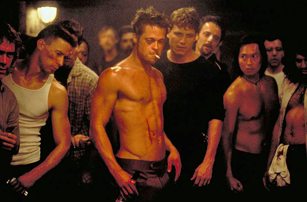 Brad Pitt appears in a scene from the 1999 movie 'Fight Club.'
