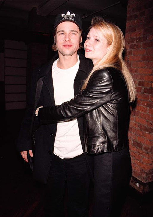 Brad Pitt and girlfriend Gwyneth Paltrow appear at a screening of 'Fargo' at the Tribeca Film Center in New York on Oct. 14, 1995.