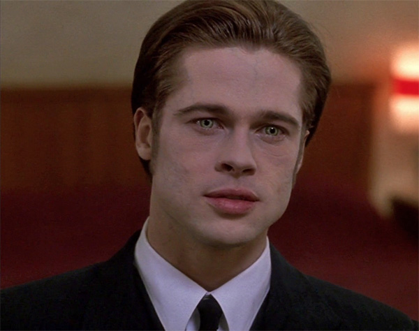 Brad Pitt appears in a scene from the 1994 movie 'Interview With The Vampire.'