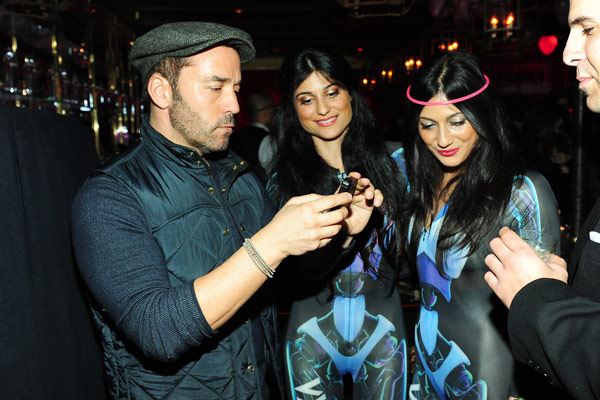Jeremy Piven appears with fans at SVEDKA Vodka's Anti-Valentine's Day Bash at AGENCY Boutique Nightclub in Los Angeles on Jan. 31, 2012.