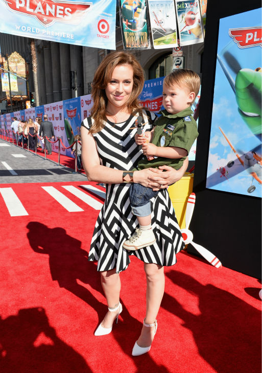Alyssa Milano &#40;L&#41; and son Milo Bugliari attend the premiere of Disney&#39;s &#39;Planes&#39; film at the El Capitan Theatre in Hollywood, California on Aug. 5, 2013. <span class=meta>(Alberto E. Rodriguez &#47; WireImage for Walt Disney Studios)</span>
